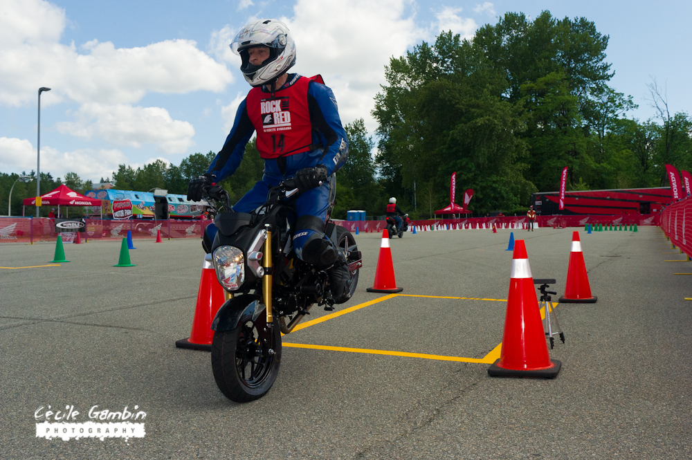 Fail! Although fast and showing lots of promise this Grom rider went past the Yellow tape at the finish line.