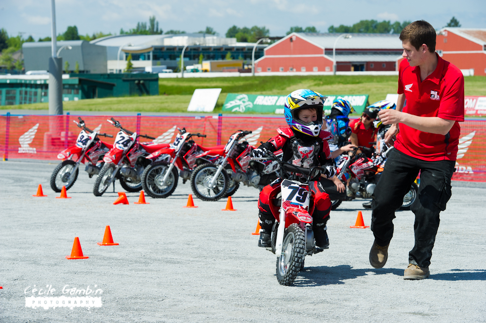 Honda's Junior Red Rocket Riders are at all MGK events. Bring your child and they'll come back with smiles!