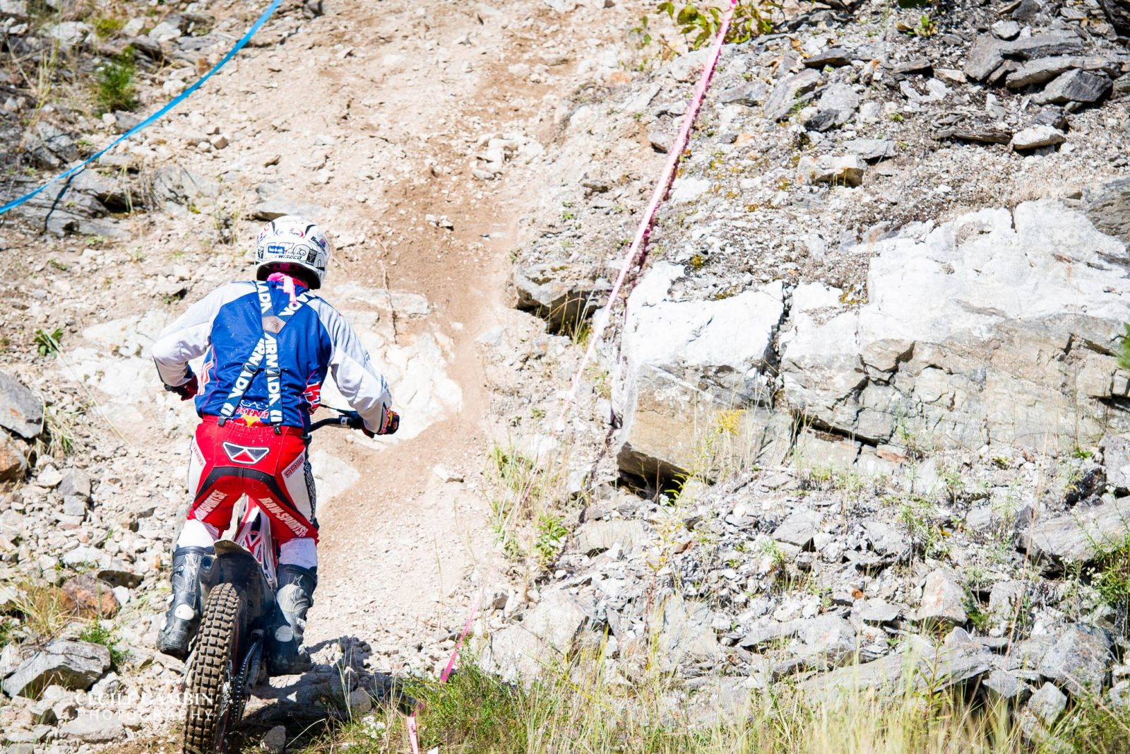 It was a hot, dry, dusty Sunday making the climbs that much more difficult as shale and other loose debris moved underneath the tires.